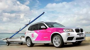 BMW X3 with Olympic livery