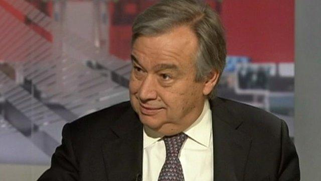 Antonio Guterres speaks on World News America