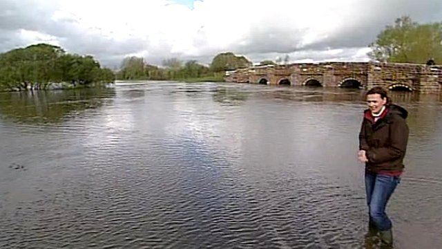 Flooding at the River Stour in Dorset