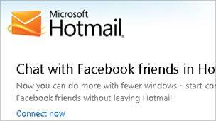 Hotmail screengrab