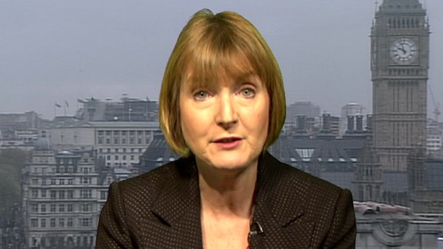 Deputy leader of the Labour Party, Harriet Harman