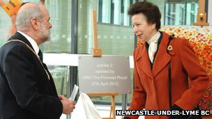 Princess Anne and Mayor Trevor Hambleton