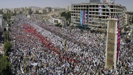 Protest in Hama (22 July 2011)