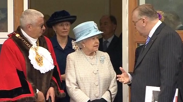 The Queen at the school opening