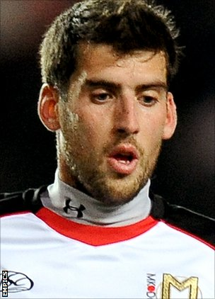 Bury midfielder Mark Carrington