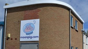Moonpig warehouse in Guernsey