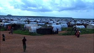A refugee camp in Somalia