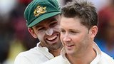 Nathan Lyon and Michael Clarke