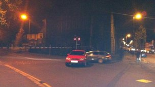 The scene of the alert at Ballygomartin Road
