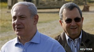 Israeli PM Benjamin Netanyahu (left) and Defence Minister Ehud Barak