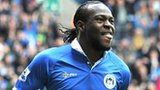 Victor Moses celebrates scoring against Newcastle