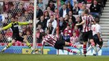 Kevin Davies fires Bolton into the lead against Sunderland