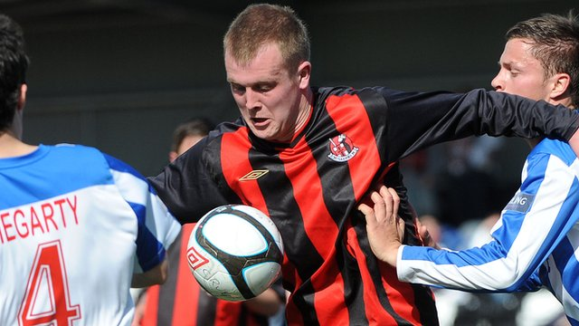Jordan Owens of Crusaders opened the scoring against Coleraine