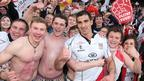 Man-of-the-match Ruan Pienaar with delighted Ulster fans after he kicked 17 points in the semi-final