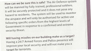 Extract from MoD leaflet