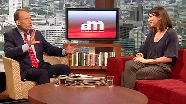 Andrew Marr and Eve Best