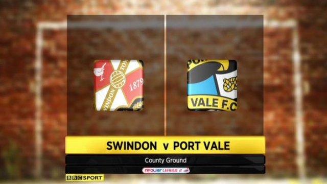Swindon 5-0 Port Vale