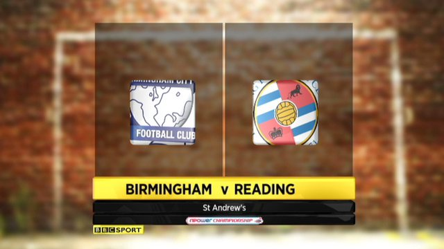 Birmingham 2-0 Reading
