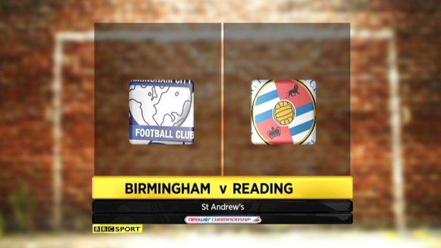 Birmingham 2-0 Reading