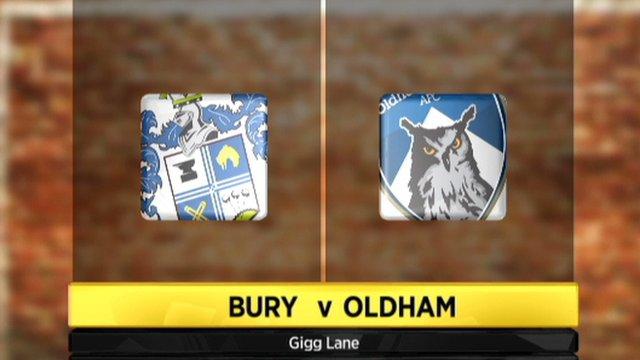 Bury 0-0 Oldham