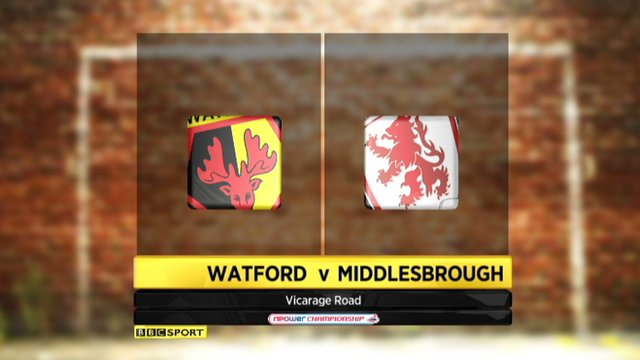 Watford 2-1 Middlesbrough