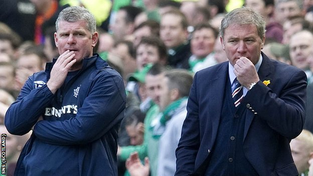Rangers coach Ian Durrant and manager Ally McCoist