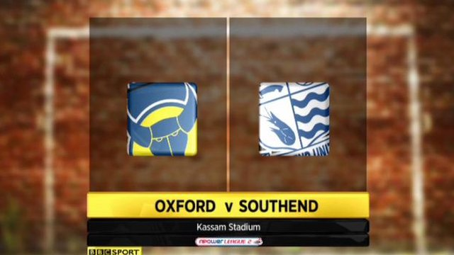 Oxford 2-0 Southend