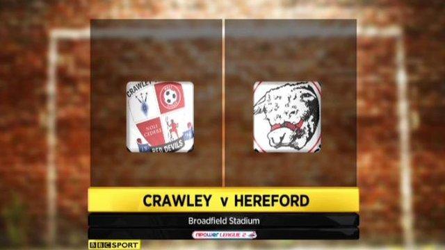Crawley 0-3 Hereford