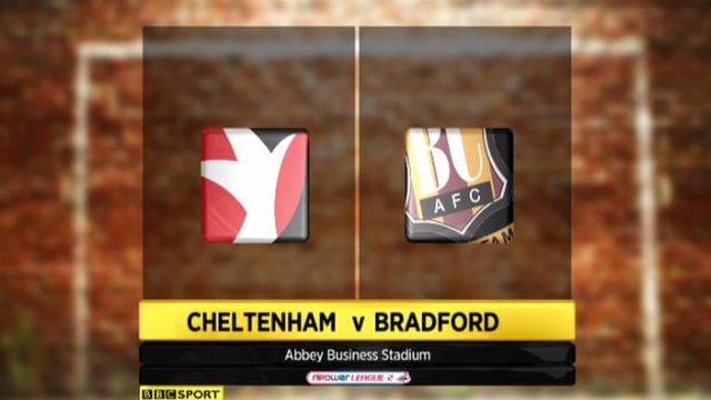Cheltenham 3-1 Bradford