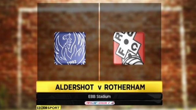 Aldershot 2-2 Rotherham