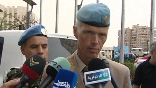 Maj Gen Robert Mood, head of the United Nations observer team for Syria