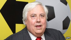 File picture of Australian mining billionaire Clive Palmer, taken on 1 March, 2012