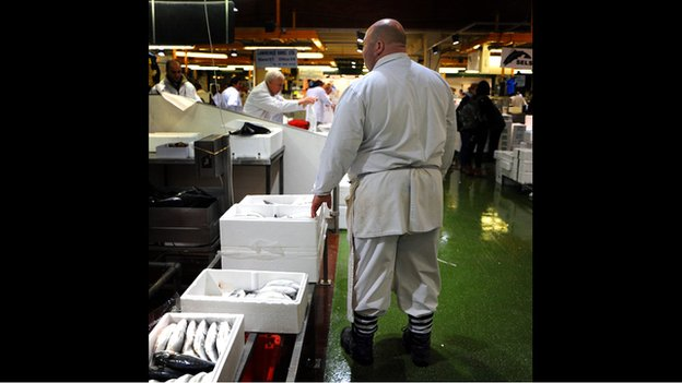 Craig Duke, fish trader at Billingsgate Market