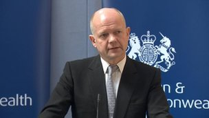 William Hague at report launch