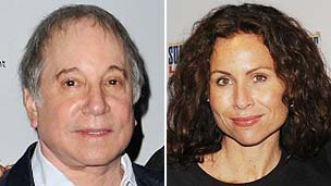 Paul Simon and Minnie Driver