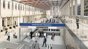Artist's impression of Paddington Crossrail