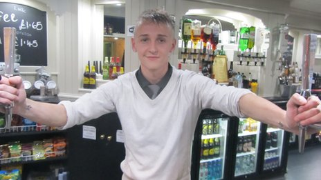 18 year old James Harding is manager of the Withy Arms in Bamber Bridge, Lancs