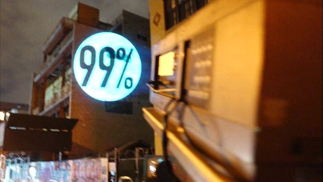 Occupy art projection