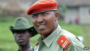Congolese rebel leader Gen Bosco Ntaganda on 11 January 2009 at his mountain base in Kabati