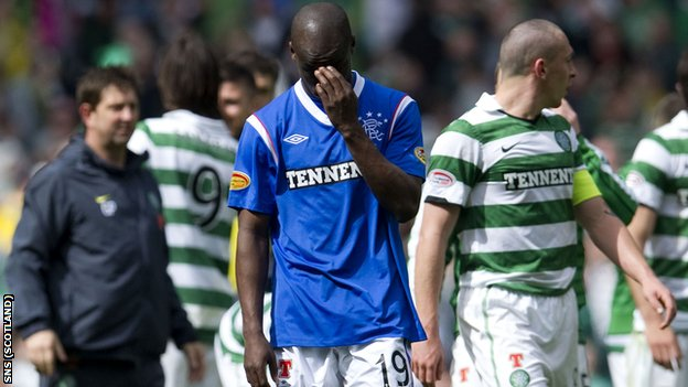 Rangers lost 3-0 to Old Firm rivals Celtic on Sunday