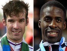 David Millar (left) and Dwain Chambers
