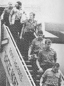 Veteran Brian Jones arriving home 1982