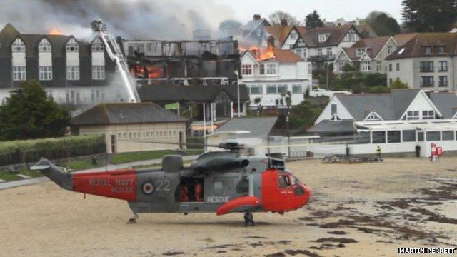 Falmouth fire - courtesy Martin Perrett