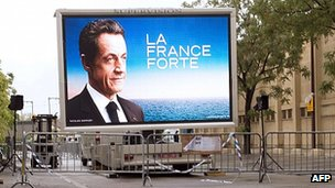 Sarkozy campaign hoarding in Avignon