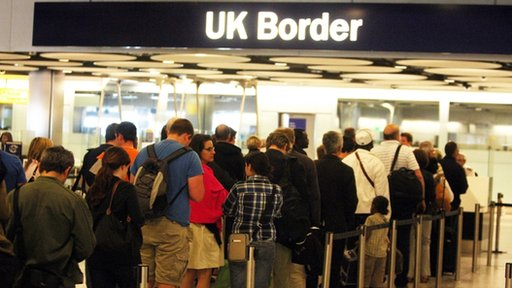 queue at UK Border