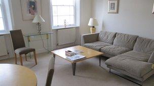 Interior of Gareth Williams' flat
