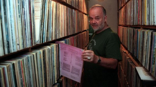 John Peel and his record collection