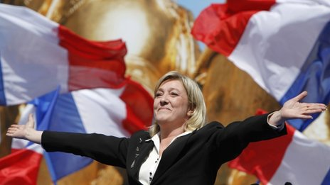Marine Le Pen, Paris, 1 May 2012