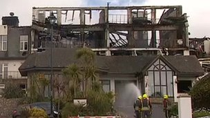 Falmouth Beach Hotel fire aftermath
