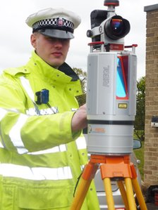 The 3D laser scanner used by Essex Police